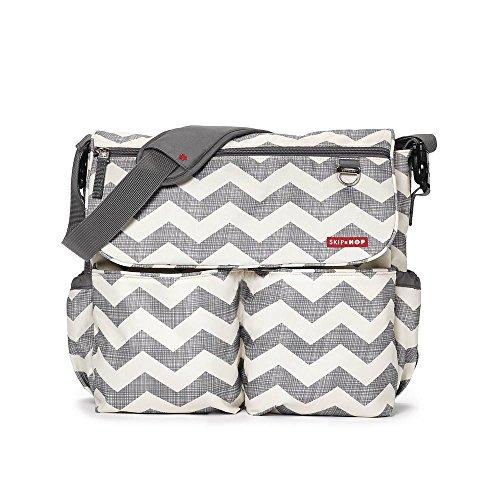 Skip Hop Dash Signature Messenger Diaper Bag, Chevron