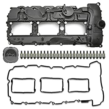MITZONE N55 Engine Valve Cover with Gasket Bolts Kit & Oil Cap For BMW 2010-2017 335i 535i 2011-2019 X5 X3 X6 2013-2015 740i 740Li 3.0L Part# 11127570292