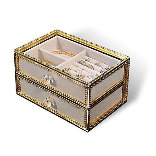 Organizador De Maquillaje Con Soporte De Perfume De Vidrio, Caja De Joyería...