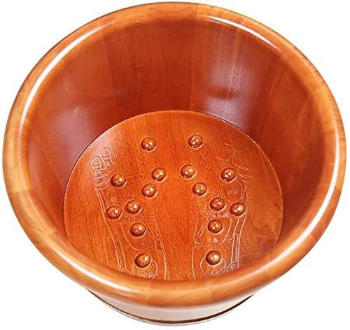 QIANSHI Détails décident la qualité Oak Pied Baignoire, Bassin des Pieds en Bois, Bassin Pédicure, Pied de ménage Bain, Bain des Pieds en Bois Massif, Massage Pédicure Bucket des Pieds, Chaud Partout
