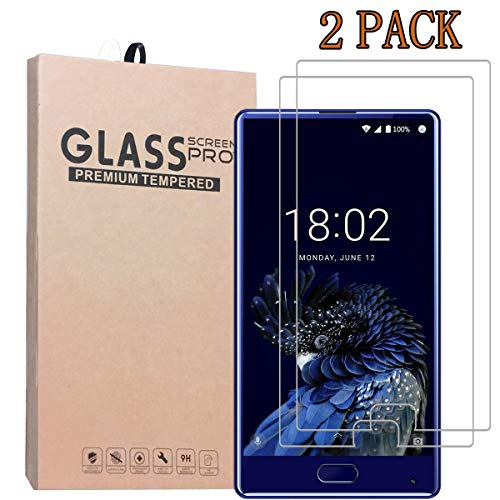 [2-Pack] Screen Protector for DOOGEE Mix, Anti-Bubble Shield 9H Hardness Clear Scratch Resist Bubble-Free Anti-Fingerprint High Responsivity Premium Quality Tempered Glass Protective Film 0.33mm