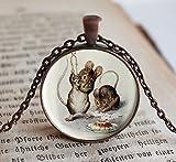Beatrix Potter 2 Bad Mice, Children's Jewelry, Child Necklace, Beatrix Potter,...
