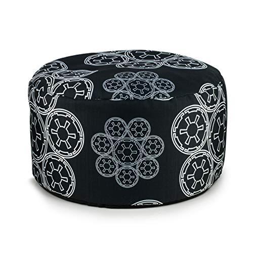 Seven20 SW11167 Star Wars Pillow Pouf Ottoman, Burlap, Black