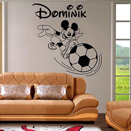 Autocollant de mur de Mickey Mouse. Nom de l'enfant autocollant mural personnalisé et Mickey Mouse. Sticker mural avec le nom d'un enfant et Mickey Mouse.