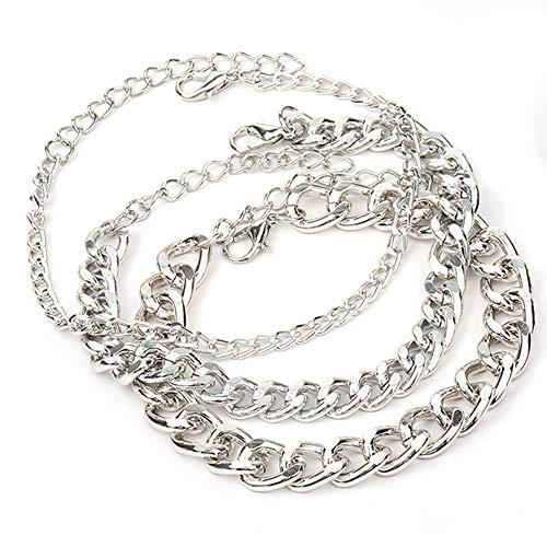AKKi jewelry Damen Armband Sets Angebot Set Tennis-Armband, rhodiniert Armkette mit Silber Kristall bohemischer Stil schmuck verstelbar Silber