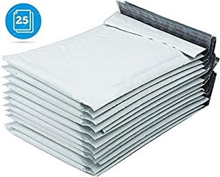 #2 Poly Bubble Mailer Envelopes Bag Padded, 8.5 x 12 inch, White, 25 Count