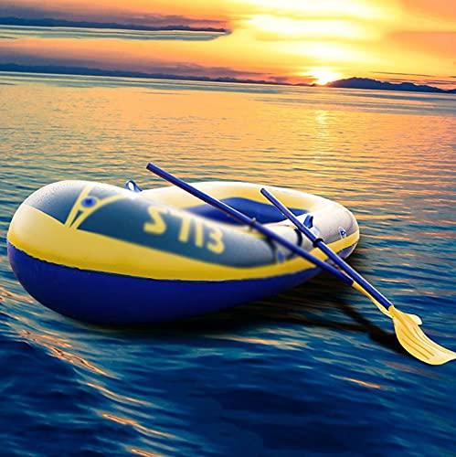 PZJ-Bote Inflable con remos, colchón de Aire para Barco Marino Inflable de PVC, Bote de Pesca para Bote Inflable de Alta Resistencia