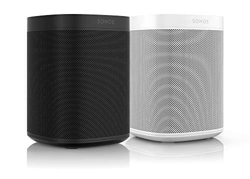 Sonos One Smart Speaker 2-Raum Set, weiß / schwarz – Intelligente WLAN Lautsprecher mit Alexa Sprachsteuerung & AirPlay – Zwei Multiroom Speaker für unbegrenztes Musikstreaming