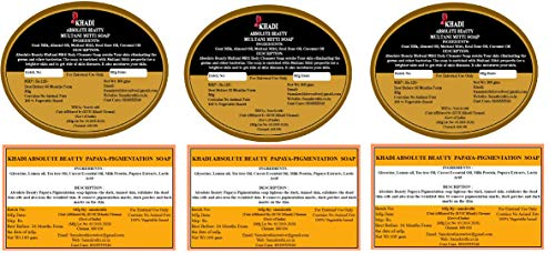 Absolute Beauty Multani Mitti and Papaya Pigmentation Beauty Bathing Soap Bar Natural Herbal Ayurvedic Fresh Beauty Soaps For...