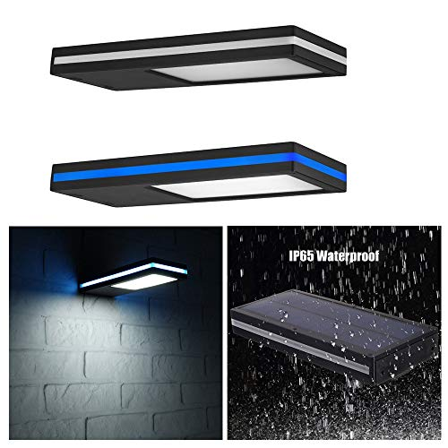 ACHICOO 144LEDs zonne-energie bewegingssensor muur lamp hoge helderheid met blauwe zij-licht riem