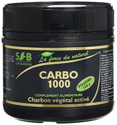 Sfb laboratoires - Charbon végétal activé poudre - 150 g pot - Ventre plat et confort d'une bonne d