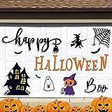 Tenare 21 Pieces Halloween Magnetic Stickers Garage Magnets Decorations Halloween Pumpkins Bats Stickers Halloween Cat Garage Door Stickers Garage Door Magnets Decoration for Halloween Decoration