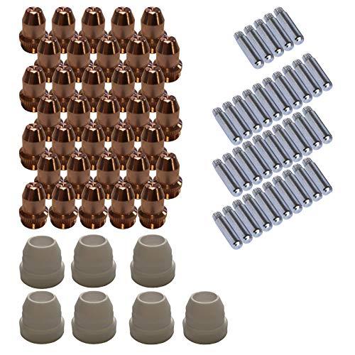Lotos Plasma Cutter Consumables Sets for Brown Color LT5000D and Brown Color CT520D (77 Pieces)