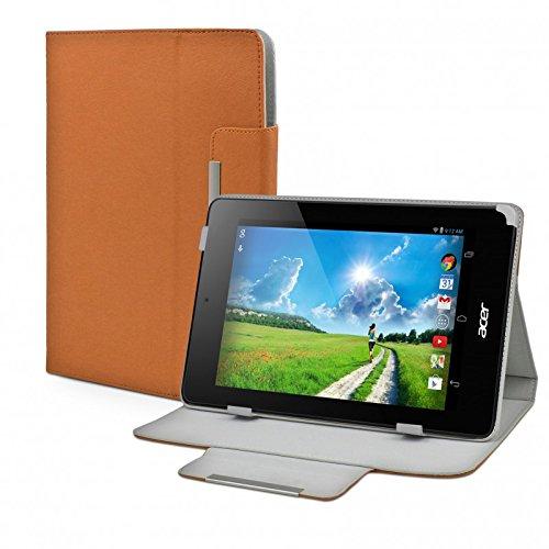 eFabrik Tablet Tasche Hülle für Acer Iconia One 7 (B1-730HD) 17,8 cm (7 Zoll) Tablet-PC Schutztasche Zubehör Schutzhülle Kunstleder Cover Hülle braun