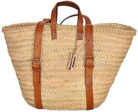 Palm Leaf Taza Backpack Straw Bag Made Shopping and Picnic Baskets Traditional Moroccan Bag product image