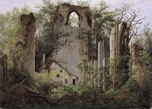 Berkin Arts Caspar David Friedrich Giclée Leinwand Prints Gemälde Poster Reproduktion(Ruiniertes Kloster von Eldena in der Nähe von Greifswald)