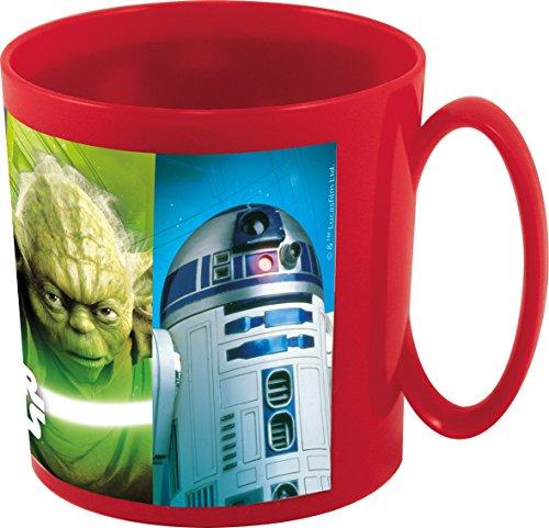 Star Wars Taza plástico microondas, Rojo, 9 x 8 cm