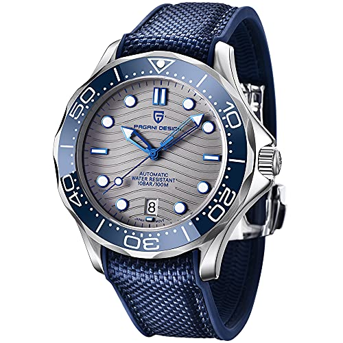 Pagani Design Seamaster Homage Automatic Diving Watches for Men Full Stainless Steel,...