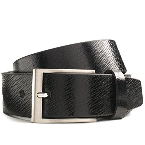LINDENMANN Gürtel Herren Ledergürtel Herren/Gürtel Herren, Vollrindleder, schwarz, Größe/Size:105, Farbe/Color:schwarz