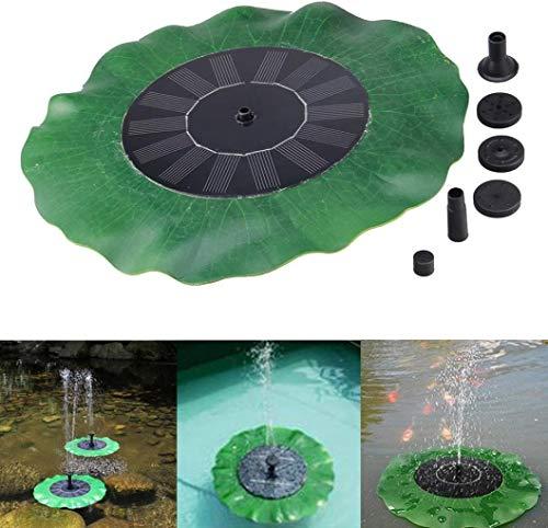 BIGMALL Baño Flotante para Pájaros Fuente De Energía Solar Jardín Kit De Bomba De Panel De Agua Estanque De Piscina Fuente De Rociadores Solares (Verde)