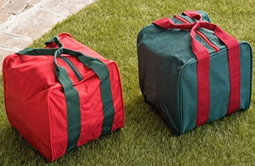 Heavy Duty 8 Ball Bocce Bag by EPCO - Red And Green Bags -2 Pack