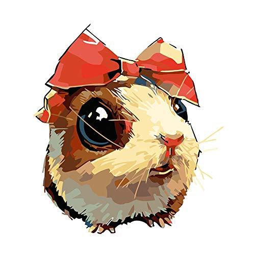 Amrzxz DIY-Len de Dibujos Animados Pintar por Numeros para Adultos Nios Pintura por Nmeros con Pinceles y Pinturas Decoraciones para el Hogar
