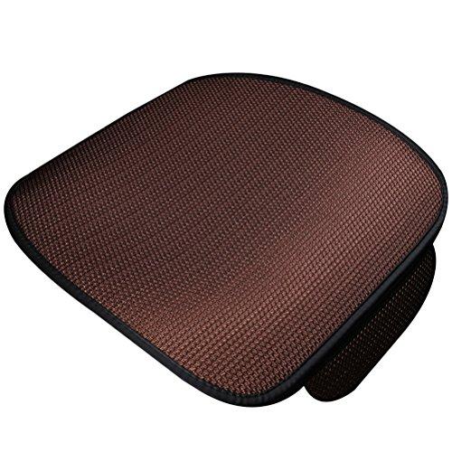 WINOMO Auto Sitzkissen Universal Front Eis Seide Auto Sitz Kissenbezug (Kaffee)