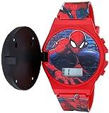 Marvel Quartz Watch with Plastic Strap, red, 19 (Model: SPD4483)