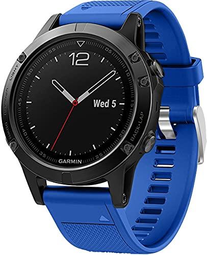 Chainfo Correa de Reloj Recambios Correa Relojes Caucho Compatible con Garmin Fenix 6X Pro/Fenix 6X Sapphire/Fenix 3 / Fenix 5X Plus/5X Sapphire - Silicona Correa Reloj con Hebilla (Pattern 2)