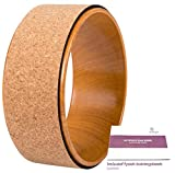 JAP Sports Yoga Wheel - Roue de Yoga très Solide – Livre d'exercices - 33x13 cm - Bois