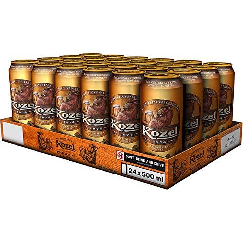24 Dosen Kozel Premium Lager Bier a 500ml inc. EINWEG Pfand 4,6%