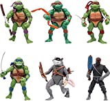 City Hero Turtles Teenage Mutant Ninja TMNT Action Figures 6 PCS Set New Toy Set Cake Topper
