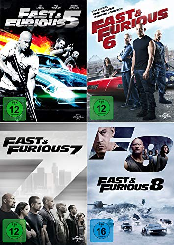Fast and the Furious 5 - 8 Collection [4er DVD-Set]