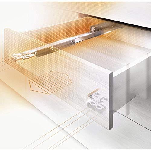 Gedotec Schubladenschienen Vollauszug 500 mm mit Blumotion Dämpfung | Blum Movento 760H5000B | Tragkraft: 40 kg | Holz-Schubkasten-Auszug mit Soft-Closing | 1 Paar -Schubladen-Auszüge inkl. Kupplungen