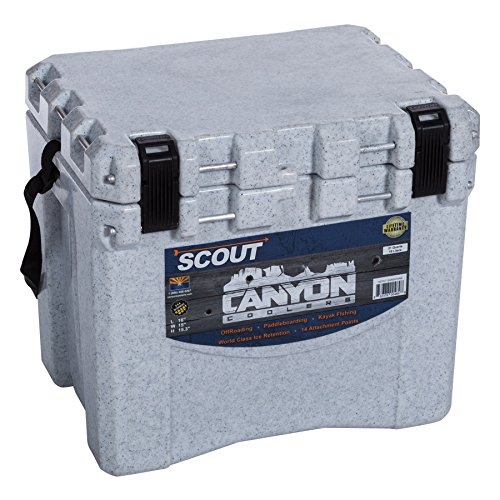 Canyon Cooler Scout 22 Quart Cooler in White Marble