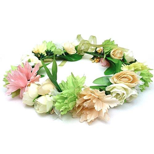 rougecaramel - Accessoires cheveux - Couronne de fleur serre tête mariage cérémonie - multicolore