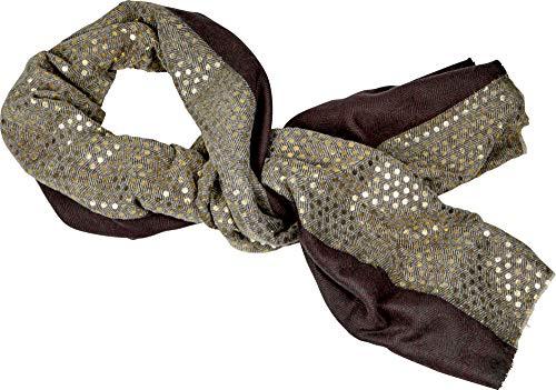 Lieblingsstücke Spiegelburg Fular Pañuelo de Cuello Accesorios Moda Mujer con Lunares Puntos Dorados 90x180 cm