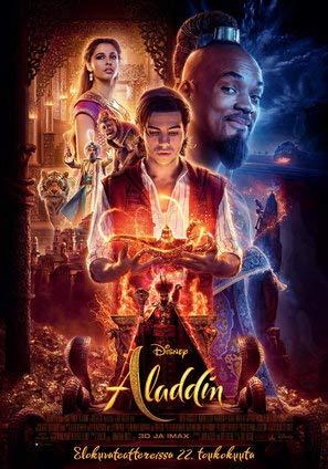 Aladdin – Finnish Movie Wall Poster Print - 43cm x 61cm / 17 Inches x 24 Inches A2