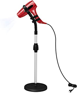 LuckIn Blow Dryer Stand, Hair Dryer Stand Hands Free, Hair Dryer Holder 360 Degrees Rotation, Adjustable Height Hair Dryer Holder, Blow Dryer Holder on Countertop Floor