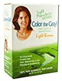 Light Mountain Color The Gray Natural Hair Color Conditioner Light Brown 7 oz 198 g