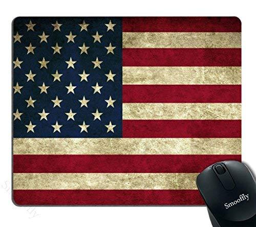 Alfombrilla de ratón para videojuegos, alfombrilla de ratón con bandera americana personalizada