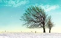 大人向けパズル 500ピース 大人とティーン向けの木製パズルに挑戦 冬の雪景色