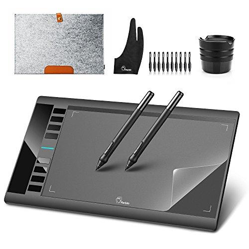 """Preisvergleich Produktbild Grafiktablett Stifttablett Parblo A610 10 x 6"""" Zeichnung Tablet mit Stift für Grafikprogramme Photoshop Painter Comic Studio / Sai IS 3DMAX Maya Zbrush,  Win7 / 8 / 10 Windows XP Mac OS Schwarz Neu 2018"""