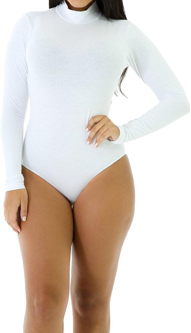 Women's Jumpsuit Turtle Neck Long Sleeve Bodycon Bodysuit Leotard Top
