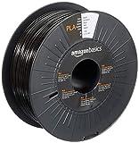 Amazon Basics - Filamento para impresora 3D, ácido poliláctico (PLA), 1.75 mm, cinta de 1 kg, negro
