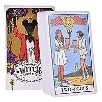 78枚のカード/モダンでモダンな魔女のタロット、将来のボードの運命を予測するゲームデッキタロットゲームポーカー、英語の占いガイドカードタロット