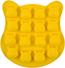 Gydthdeix 1 Pack 16 Holes Pooh Bear Silicone Cake Ice Cube Chocolate Mold DIY Handcraft Soap Making Cake Cupcake Chocolate...