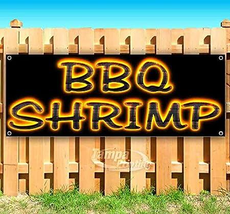 BBQ Shrimp 13 oz Banner Heavy-Duty Vinyl Single-Sided with Metal Grommets