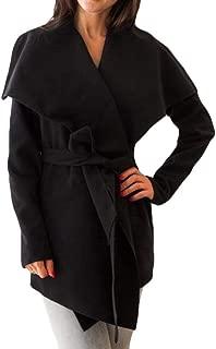 Womens Relaxed-Fit Strappy Lapel Long Sleeve Belt Trench Coats Khaki US Medium