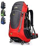 Doshwin 70L Mochila Senderismo Trekking Camping Viaje para Hombre Mujer (Rojo)